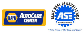NAPA and ASE Logos | Miller's Auto Repair